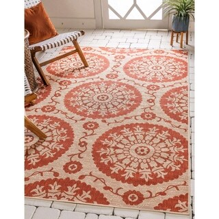 Unique Loom Medallion Outdoor Area Rug - 9' x 12'