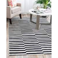 Unique Loom Striped Tribeca Area Rug - 9' x 12'