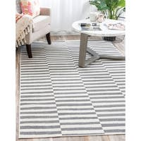 Unique Loom Striped Tribeca Area Rug - 9' 0 x 12' 0