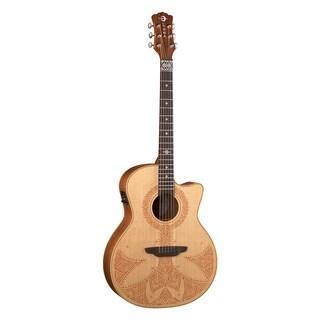 Luna Guitars Henna Sahara Grand Concert Acoustic-Electric Guitar, Spruce Top, Mahogany Back & Sides - Natural