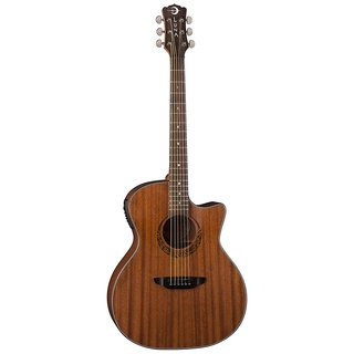 Luna Guitars Gypsy Mahogany Grand Concert Acoustic/Electric Guitar, Rosewood Fingerboard - Satin Natural