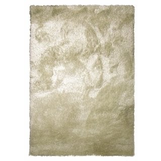 Hand Tufted Solid Cool Beige Shag Area Rug (6'6 X 9'2)