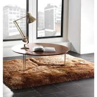 Hand Tufted Solid Brown Shag Area Rug