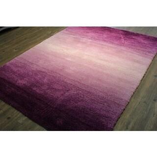 purple handtufted shag area rug 4u002711 x