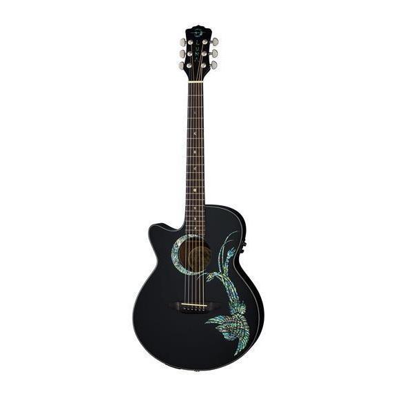 shop luna guitars fauna phoenix left handed acoustic electric guitar rosewood fingerboard. Black Bedroom Furniture Sets. Home Design Ideas