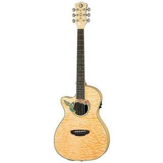 Luna Guitars FAUHUML Fauna Hummingbird Left-Handed Acoustic/Electric Guitar - Natural