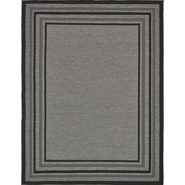 Unique Loom Multi Border Outdoor Area Rug 9 X27