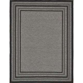 Unique Loom Multi Border Outdoor Area Rug - 9' x 12'