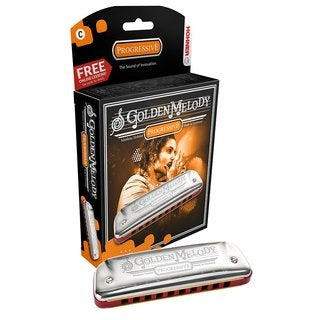 Hohner Golden Melody Harmonica Boxed Key Of D
