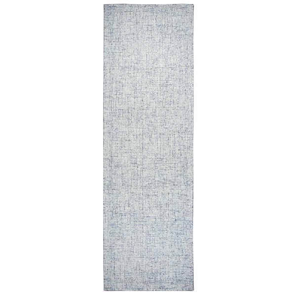 "Brindleton Solid Blue Wool Hand-tufted Runner Area Rug (2'6 x 10') - 2'6"" x 10'"
