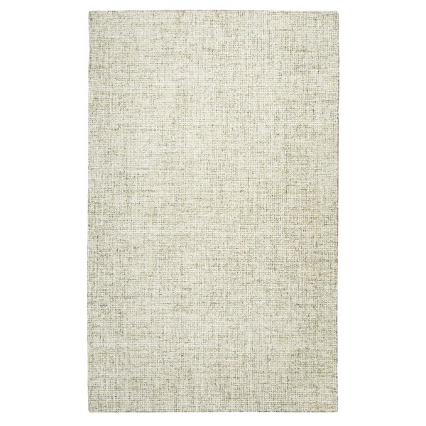 Brindleton Solid Beige Wool Hand-tufted Area Rug (10' x 14') - 10' x 14'
