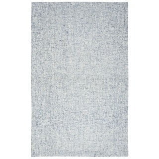 Brindleton Solid Blue Wool Hand-tufted Area Rug (10' x 14')