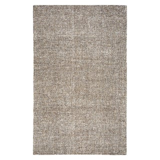 Rizzy Home Brindleton Solid Brown Wool Hand-tufted Area Rug (10' x 14')