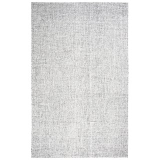 "Hand-Tufted London Solid Grey Wool Area Rug (6'6 x 9'6) - 6'6"" x 9'6"""