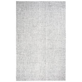 "Hand-Tufted London Solid Grey Wool Area Rug (6'6 x 9'6) - 6'6"" x 9'6"""