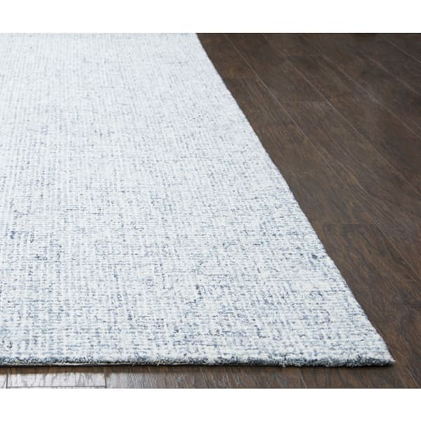 Hand Tufted London Solid Blue Wool Area Rug 6 6 X 9 6 6 6 X 9 6 Overstock 16323397