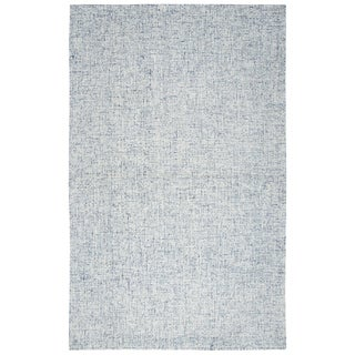 "Hand-Tufted London Solid Blue Wool Area Rug  (6'6"" x 9'6"") - 6'6"" x 9'6"""