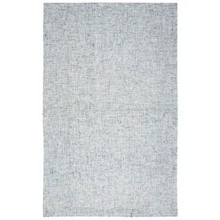 "Hand-Tufted Brindleton Solid Blue Wool Area Rug  (6'6"" x 9'6"")"