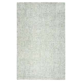 Hand-Tufted Brindleton Solid Green Wool Area Rug (12' x 15')
