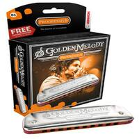 Hohner Golden Melody Harmonica Boxed Key Of Bf