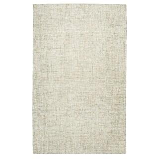 Hand-Tufted Brindleton Solid Beige Wool Area Rug (12' x 15')