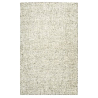 Hand-Tufted Brindleton Solid Beige Wool Area Rug (12' x 15')