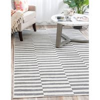 Unique Loom Striped Tribeca Area Rug - 8' x 10'