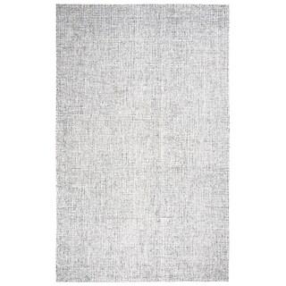 Hand-Tufted Brindleton Solid Grey Wool Area Rug (12' x 15') - 12' x 15'