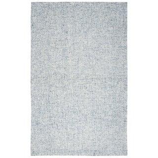 Hand-Tufted Brindleton Solid Blue Wool Area Rug  (12' x 15') - 12' x 15'