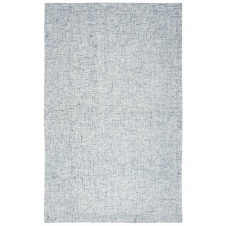 Hand-Tufted Brindleton Solid Blue Wool Area Rug  (12' x 15')