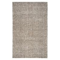 Hand-Tufted Brindleton Solid Brown Wool Area Rug - 12' x 15'