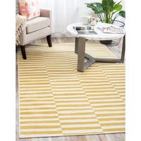 Unique Loom Striped Tribeca Area Rug - 7' 0 x 10' 0