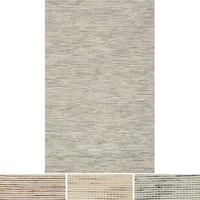 Hand-woven Earth-tone Natural Wool/ Jute Area Rug - 9'3 x 13'