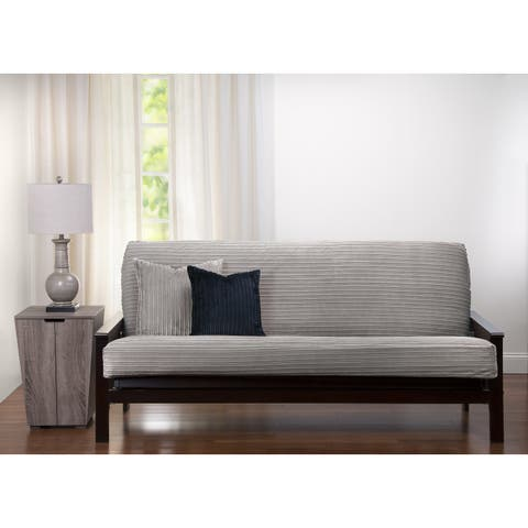 Downy Taupe Futon Cover