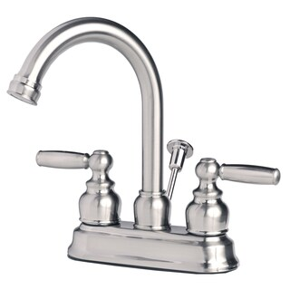 Builders Shoppe 2023 Classic Two Handle Centerset Lavatory Faucet with Pop-Up Drain