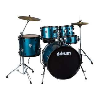 ddrum D2 Player Blue Pinstripe 5-Piece Drum Kit w/ Hardware