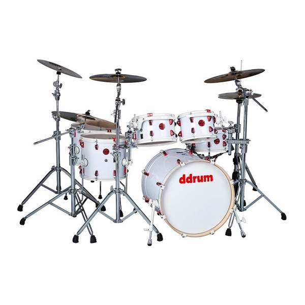 ddrum Hybrid 6-Piece Shell Pack w/ Acoustic Pro Triggers - White Wrap