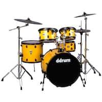 """ddrum Journeyman Player 22"""" Bass Drum 5-Piece Drum Kit w/ Hardware - Yellow"""
