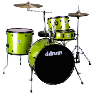 ddrum D2 Rock 4-Piece Lime Sparkle Drum Kit w/ Hardware