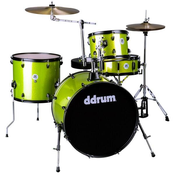 ddrum D2 Rock 4-Piece Lime Sparkle Drum Kit  w/ Hardware