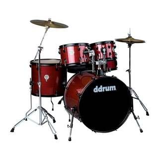 ddrum D2 Player Red Pinstripe 5-Piece Drum Kit w/ Hardware