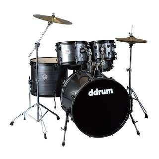 ddrum D2 Player Grey Pinstripe 5-Piece Drum Kit w/ Hardware