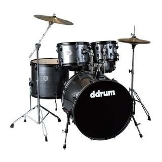 ddrum D2 Player Grey Pinstripe 5-Piece Drum Kit w/ Hardware
