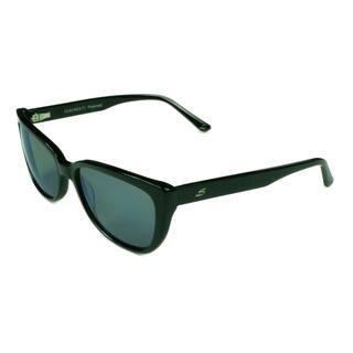eb688551b3ab Serengeti Fashion Women s Sophia 8280 Shiny Black w  Blue Mirrored Polarized  Lens Sunglasses