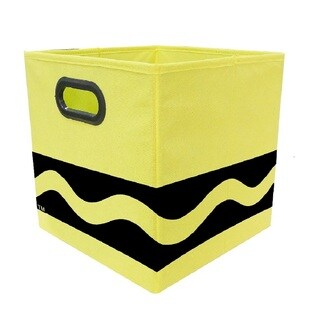 Crayola Black Serpentine Yellow Storage Bin