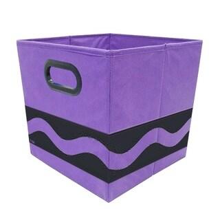 Crayola Black Serpentine Purple Storage Bin