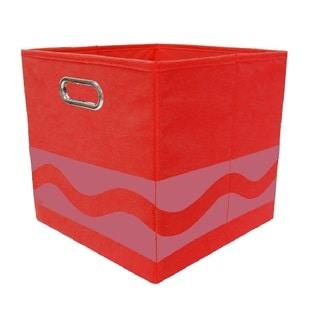 Crayola Tone Serpentine Red Storage Bin