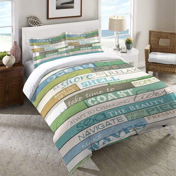 Laural Home Rules of the Ocean Standard Pillow Sham