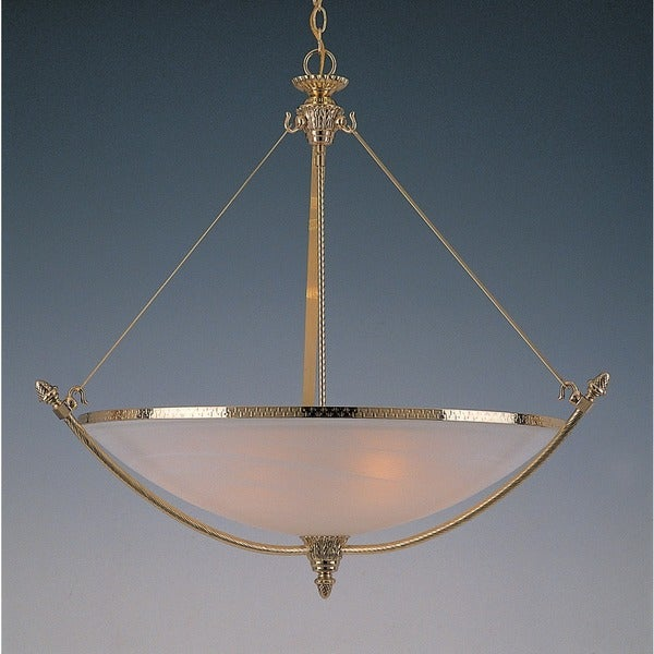 Crystorama Traditional 6-light Polished Brass Inverted Pendant
