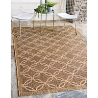 Unique Loom Spiral Outdoor Area Rug - 8' x 11' 4